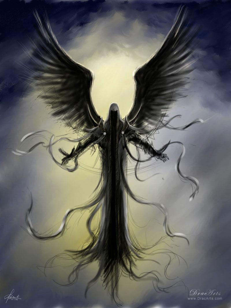 六翼天使死神镰刀 骷髅镰刀死神壁纸 六翼骷髅死神 ...