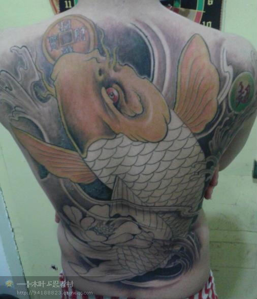 鲤鱼纹身,鲤鱼纹身手稿图片