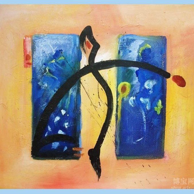 美女画家胡檬抽象派油画作品赏