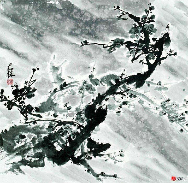 张大林先生国画梅花作品欣赏图片