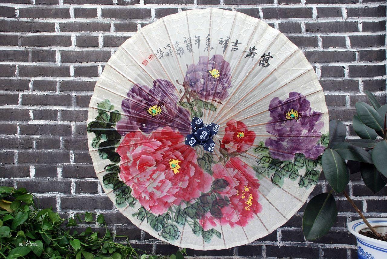 秦风汉月油纸伞经典伞面图案