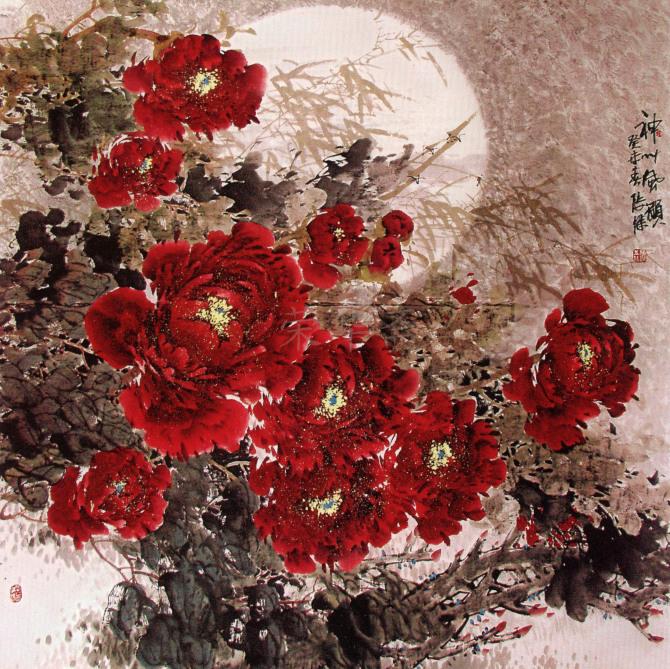 河南省国画家协会会员,国家二级美术师,中国当代书画研究会常务副会长图片