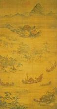 元·吴廷晖:《龙舟夺标》