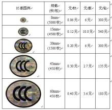 CCC标志尺寸规格及价格