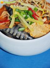 美味的韩式辣白菜鱼汤