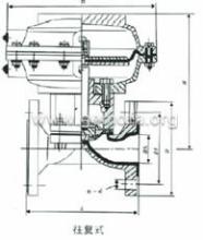 英标气动衬胶隔膜阀(往复式)图片