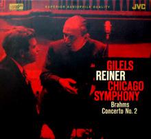 吉列尔斯录制的勃拉姆斯钢琴协奏曲CD封面