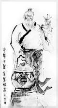 杜康造酒水墨画