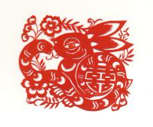 蛇盘兔剪纸