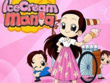 美少女卖冰淇凌