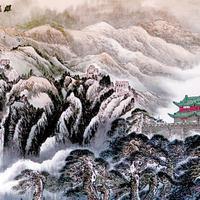 杜明岑写意山水作品图片