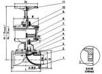 气动隔膜阀结构图图片