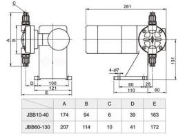 jbb系列机械隔膜计量泵图片
