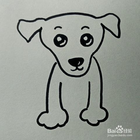 儿童简笔画 小狗的画法