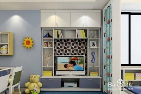 小户型客厅电视背景墙 智家居怎么设计?图片