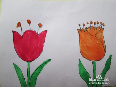 由于颜色鲜艳漂亮,经常会点缀在各种成品画作中,在这里向大家介绍花朵图片