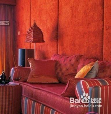 红色欧式床软包装修效果图