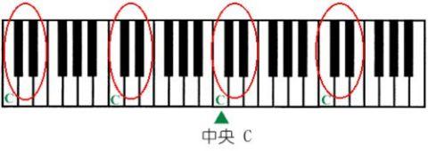 真实钢琴的键盘位置图片