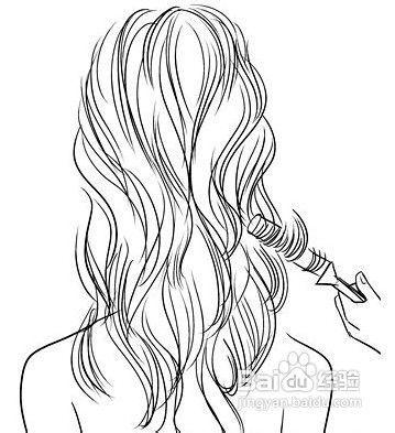 活力小碎卷发型编发教程图片