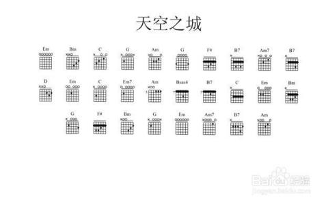 《天空之城》吉他谱 六线谱解析图片
