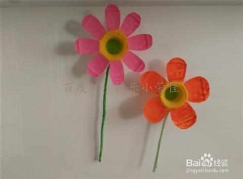 旧物改造:塑料瓶制作成花朵图片