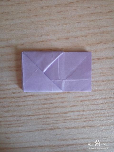 将长方形纸张按折花式信纸的相同方式折叠出来!图片