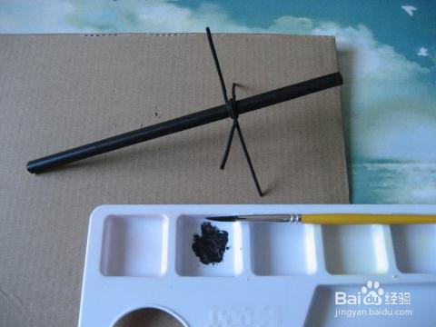 少儿手工——用铅笔吸管铁丝制作风向标_手工艺_百度