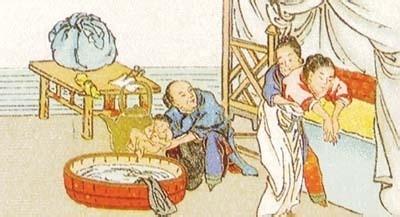 古代分娩接生图片图