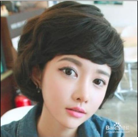 最流行的短发卷发发型图片