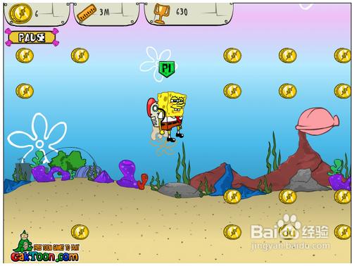 海绵宝宝潜水小游戏在线玩