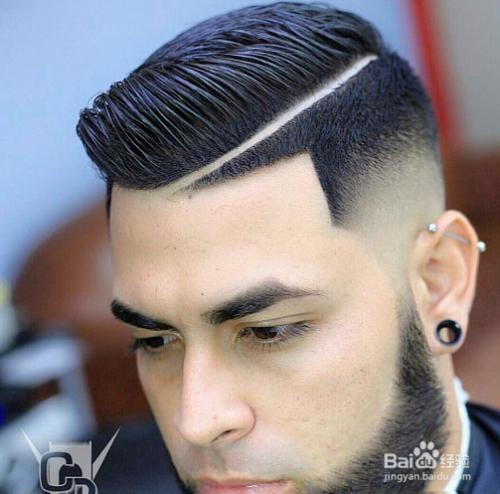 欧美油头_> 美发  1 经典复古油头和最新时尚刀疤痕结合设计,打造今年欧美最帅
