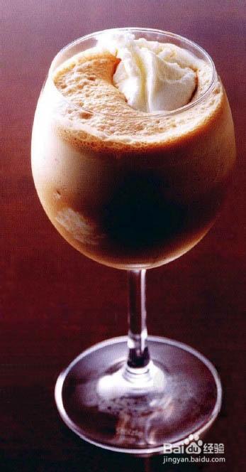 香浓咖啡冰淇淋花式咖啡