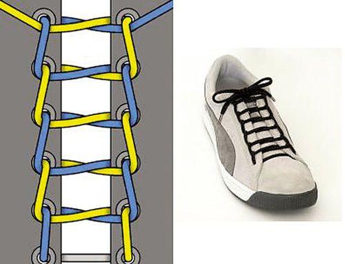 而且鞋带要比较宽. 4 第四种:同心结系法 end图片
