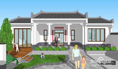 一层中式院落别墅可以怎么设计?