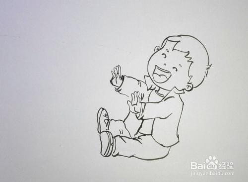 儿童趣味创意画 简笔画 滑滑梯