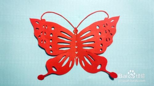 蝴蝶剪纸步骤图解图片