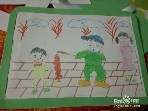小学生如何制作明信片图片