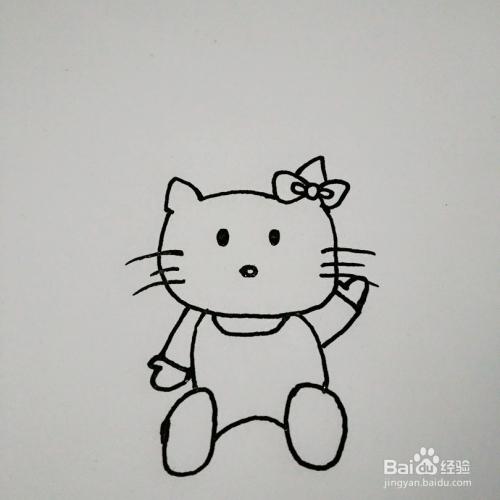 ktty猫的简笔画图片