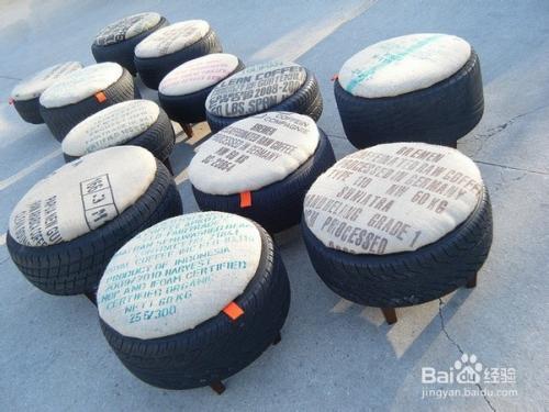 旧轮胎沙发《 轮胎制作沙发凳子 《 轮胎 Diy 沙发图片