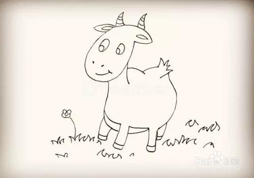 简笔画怎么画山羊
