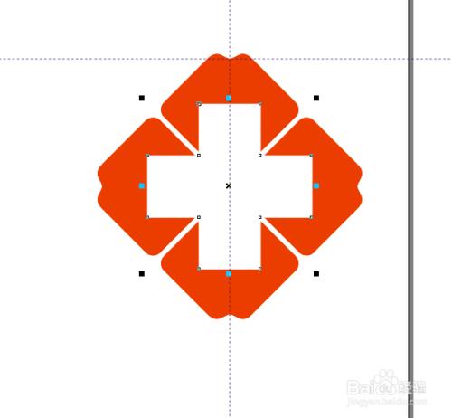 RAW软件制作红十字医院LOGO标志
