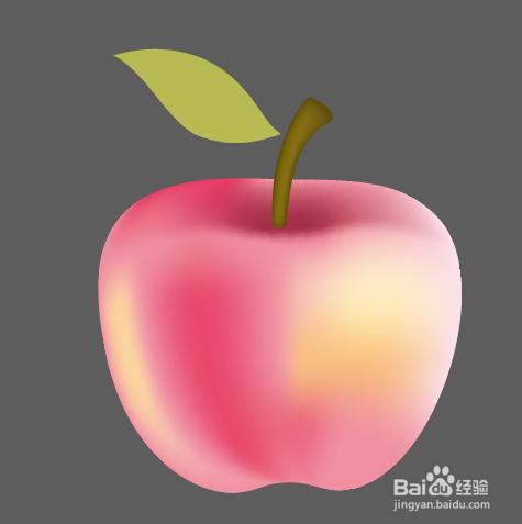 平面设计超级技巧 ai渐变网格画苹果