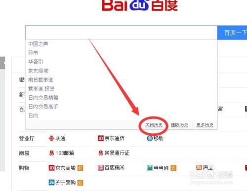 如何在百度搜索框中不不显示搜索过的关键词图片