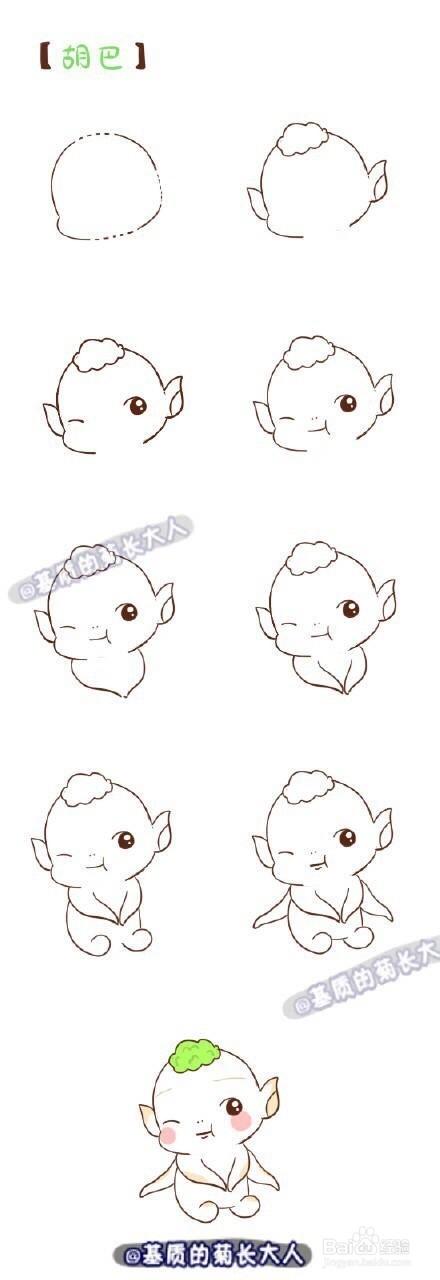 简笔画萌物囹�a_可爱的动漫萌物简笔画
