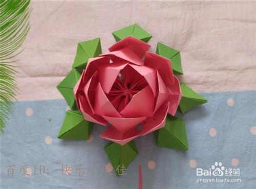 中秋折纸之祈福莲花灯图片