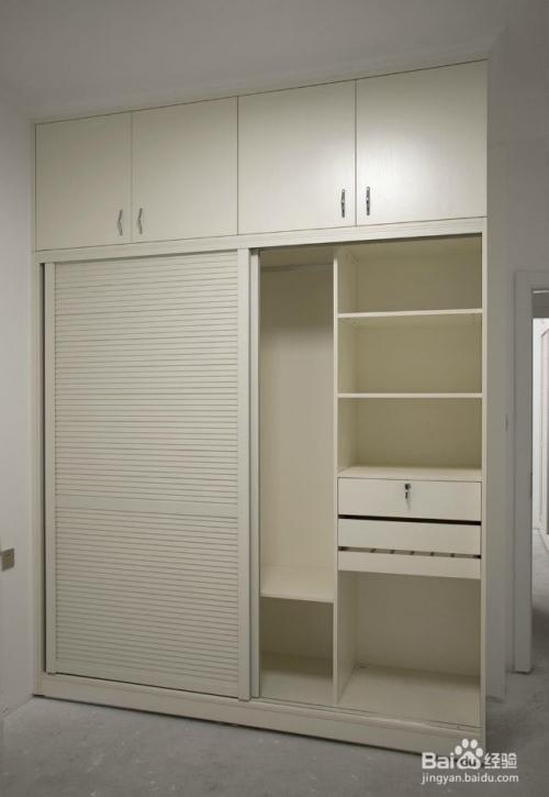 下图是一款圣唯美欧式简约风格的新款衣柜