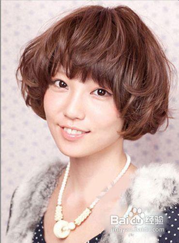 女短发烫发发型图片图片