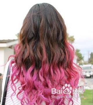 教你渐变色头发怎么染图片