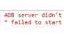 ADB server didn't ACK