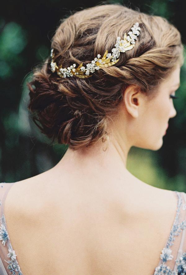 新娘欧美低发髻盘发 凸显优雅女人味 (600x887)-新娘盘发图片图片